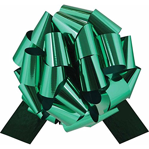 Big Metallic Emerald Green Gift Bow - 12