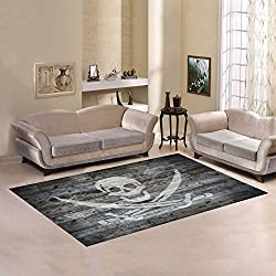 Love Nature Sweet Home Modern Collection Custom flag of pirates Area Rug 7' x 5' Indoor Soft Carpet