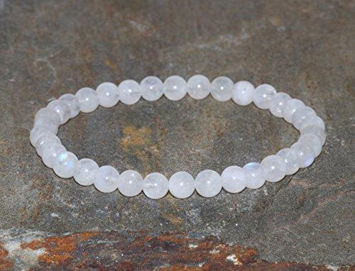 5mm Moonstone Bracelet, White Moonstone Jewelry, Healing Crystals Goddess Mala Beads Feminine Energy + New Beginnings + Hormonal Balance