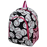 Baseball Print NGIL Canvas School Backpack