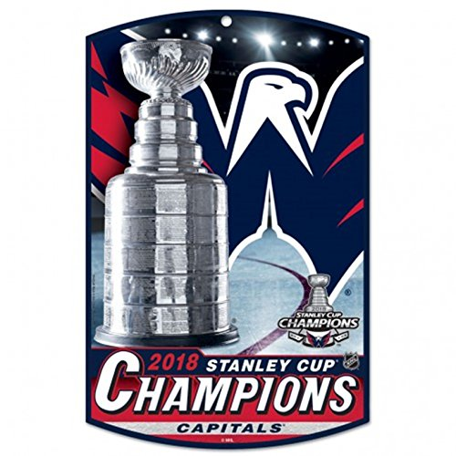 Stanley Time 11 Cup - Stockdale Washington Capitals 2018 Champions WC Premium 11x17 WOOD Wall Sign Stanley Cup