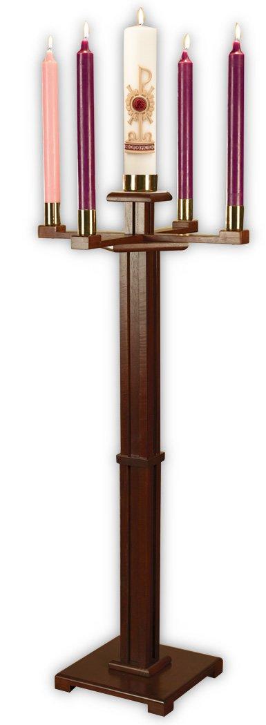 F A Dumont Church Advent Candleholder (Walnut) F.A. Dumont 61488NB