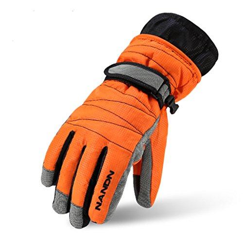 SEEU Men's Winter Mittens, Full Finger Cycling Gloves Black XL