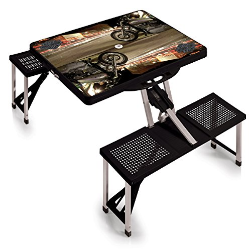 Picnic Time Harley Davidson Portable Folding Table with 4-Seater by PICNIC TIME