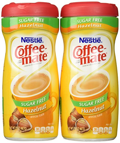 Coffeemate Sugar Free Hazelnut 10.2 OZ,Pack of 2
