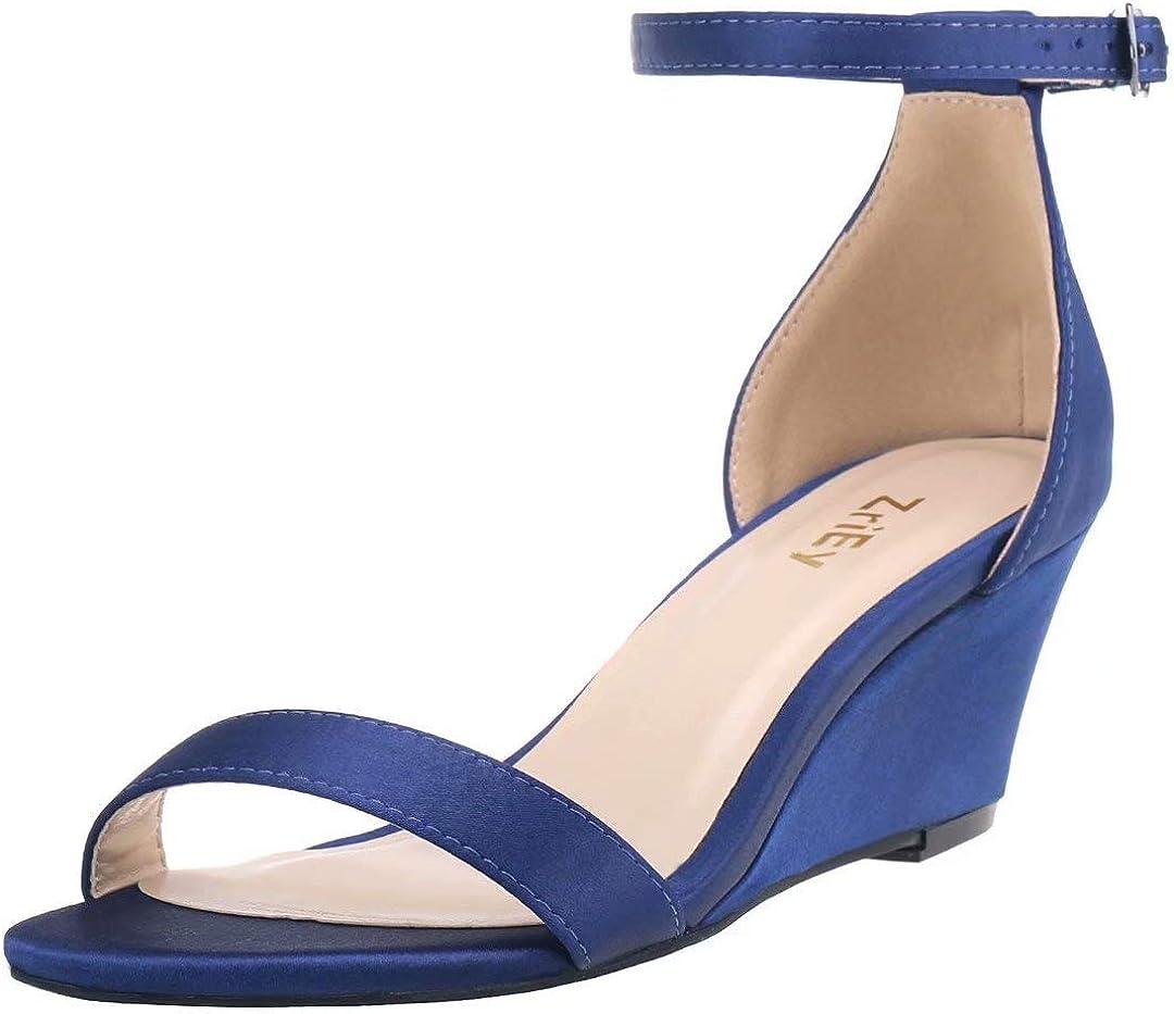 ZriEy Women's Wedge Sandals Open Toe