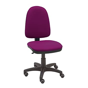 La Silla de Claudia - Silla giratoria de escritorio Torino magenta para oficinas y hogares ergonómica con ruedas de parquet: Amazon.es: Hogar