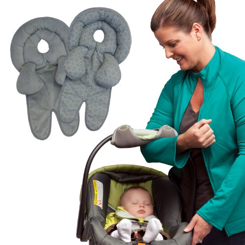 Buy Boppy Infant And Toddler Head Neck Support With Car Seat Handle Cushion Bundle Grey Online At Low Prices In India