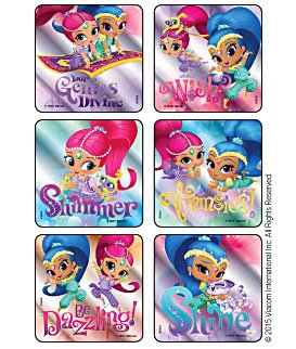 Amazon Com 45 Pack Stickers Shimmer And Shine Birthday Party