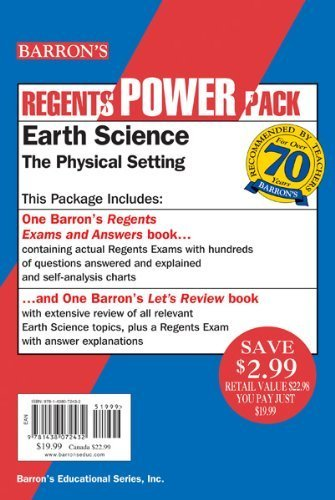 Earth Science - The Physical Setting Power Pack (Barron's Review Course) by Dennecke Jr., Edward J. (2013) Paperback