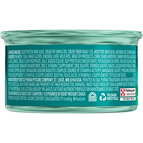 Purina Fancy Feast Tuna & Shrimp Recipe Cat Food - (24) 3 oz. Pull-top Can