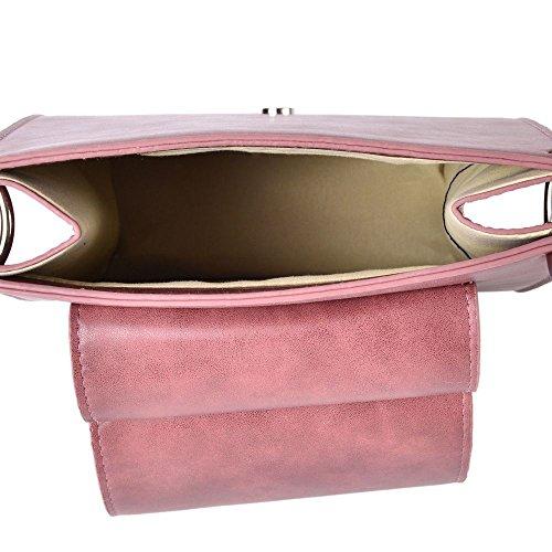 Crossbody Strap Crossbody Removable Pink Shoulder Adjustable 27x20x7Cm Bag with Bag Shoulder Strap Adjustable with Removable rwpqHrAU