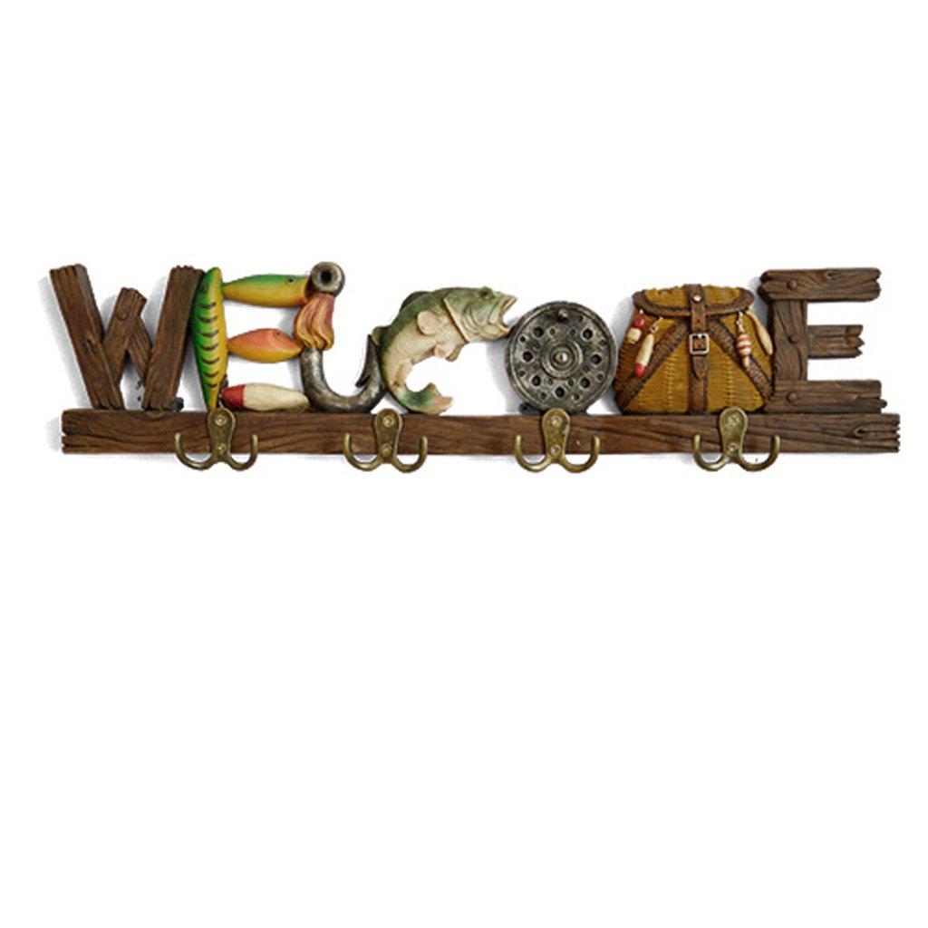 家のドアパーソナライズされたキーホルダーでコートラック装飾壁コートハンガークリエイティブ衣料品店 フックの服 (色 : B 55*4*12 cm)  B 55*4*12 cm B07K243LCL