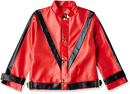 Charades Child's Michael Jackson Thriller Costume Jacket, Red, (Michaels Halloween Costumes)