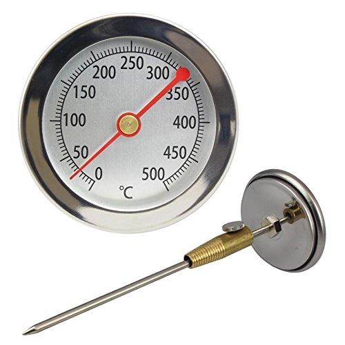 500 °C Grad , 50 cm , Bimetall , Backofen , Bratofen , Holzofen , Holzbackofen , Pizzaofen , Ofen Thermometer . Analog