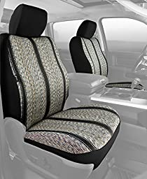 Fia TR48-32 BLACK Custom Fit Front Seat Cover Bucket Seats - Saddle Blanket, (Black)