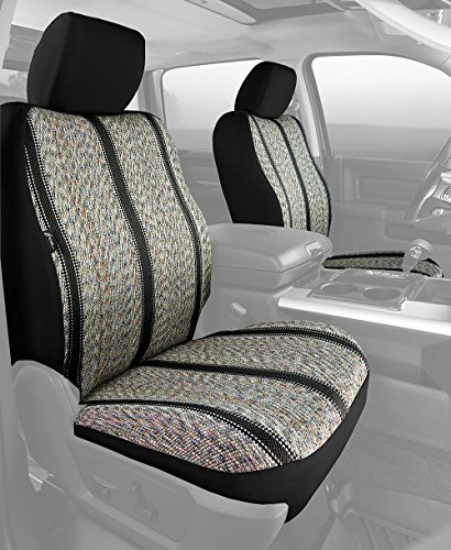 Fia TR48-32 BLACK Custom Fit Front Seat Cover Bucket Seats - Saddle Blanket, (Black) by FIA