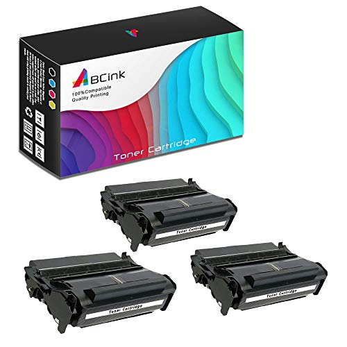 (ABCink Compatible Toner Cartridge Replacements for Lexmark 12A7315 12A7415,for use in Lexmark 4059,1200,1250,1650,2450,10000 Yields(3 Pack,Black))