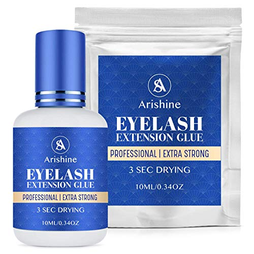 Extra Adhesive Eyelash Extension Glue 10 ml- All Day Lash Wear with Super Strong Bond - Waterproof and Sweatproof - For Professional Makeup and Personal Use - Comes In Black Color