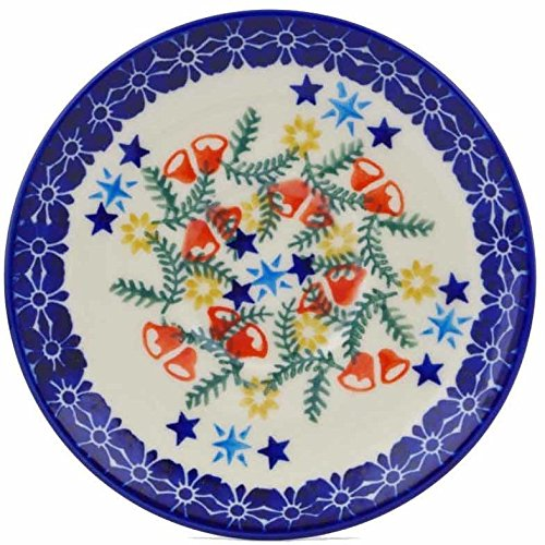 Polish Pottery 5½-inch Saucer (Wreath Of Bealls Theme) + Certificate of Authenticity by Polmedia Polish Pottery