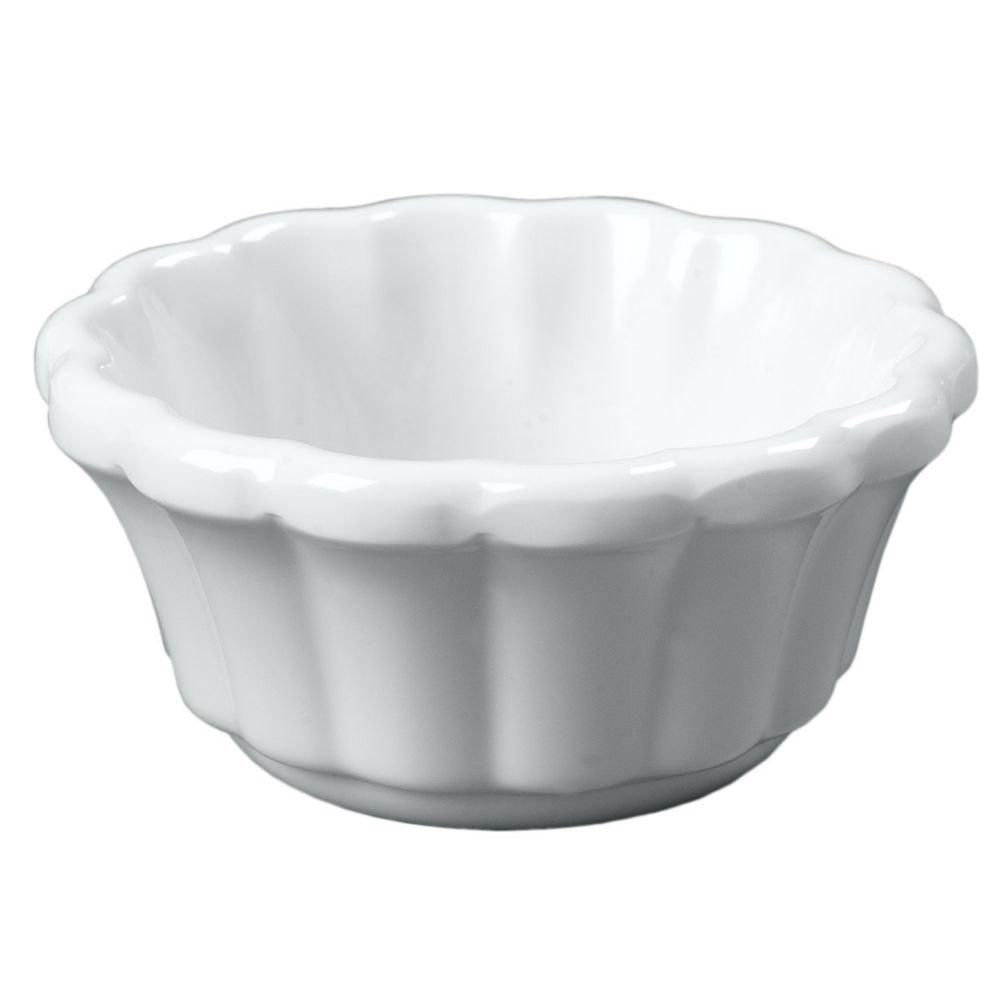 White 3 ounce Scalloped Ramekin -- 48 per case