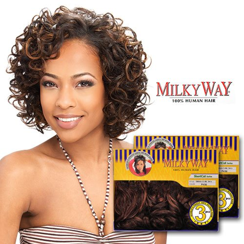 (Buy ONE GET ONE Free!) MilkyWay Human Hair Weave Trina Curl 3Pcs (2)