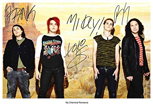 My Chemical Romance band reprint signed autographed 8x12 photo #4 RP