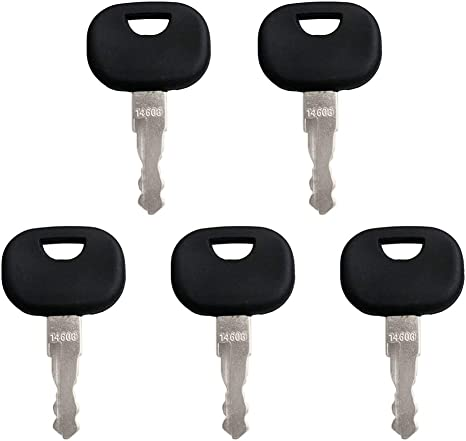 Baqi 5 Stück Ersatzschlüssel 14603 Zündschlüssel Universal Traktor Für Fendt Baumaschinen Schlüssel Mini Bagger Stapler Radlader Auto