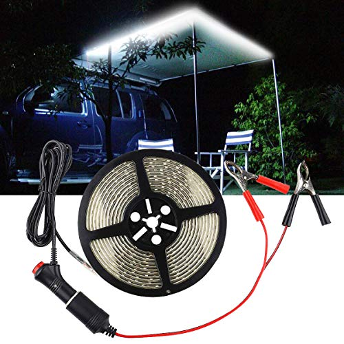 - Autai RV LED Rope Light Awning Rope Lights Recreational Vehicle Light Strip Touring Car Camping Light 12V Waterproof with Cigarette Lighter Clip