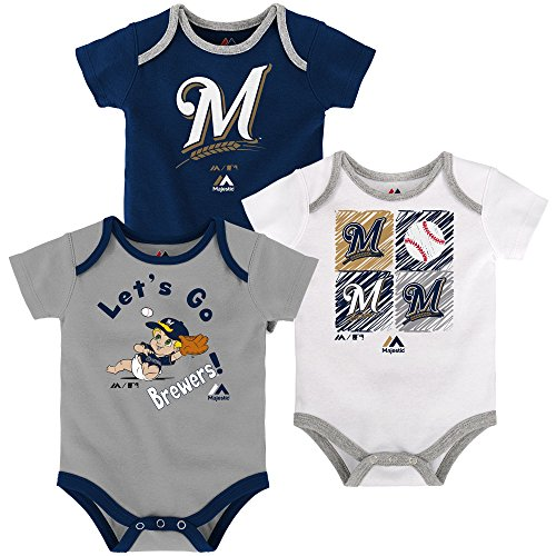 Milwaukee Brewers Baby/Infant Go Team 3 Piece Creeper Set 0-3 Months ()