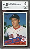 1985 topps #181 ROGER CLEMENS boston red sox rookie card BGS BCCG 9 graded card