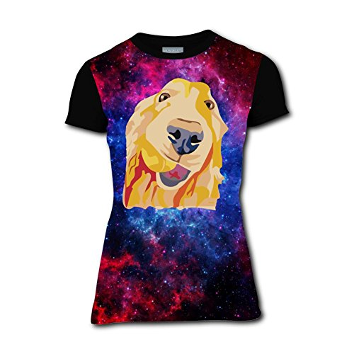 LOGvvl Womens Beautiful Dog Casual T-Shirt Short Sleeve 3D Print -