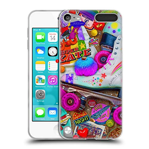 Official Aimee Stewart Skate Night Colourful Sweets Soft Gel Case Compatible for Apple iPod Touch 5G 5th Gen (Ipod 5 Case Skate)
