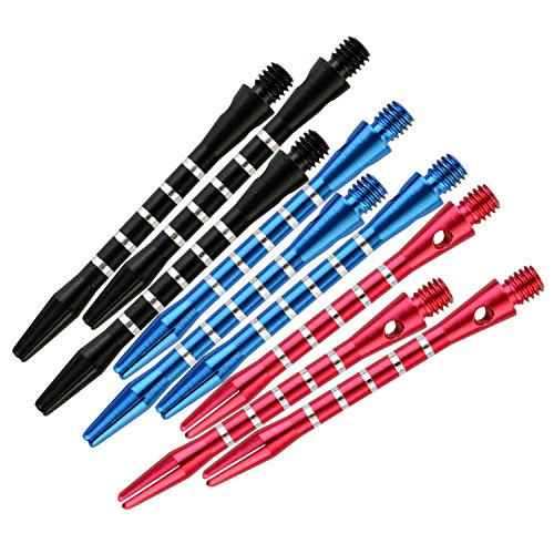 Dxhycc 3 Sets/9pcs Aluminum Darts Shafts Harrows Dart Stems Throwing Fitting Medium