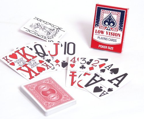 Low Vision Playing Cards - Red