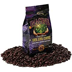 Kona Coffee Imagine Beans by Budda's Cup, Medium Dark Roast