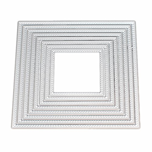 Kwan Crafts Large Size 15cm Double Sew Thread Square Metal Die Cutting Dies for DIY Scrapbooking Photo Album Embossing by Kwan Crafts