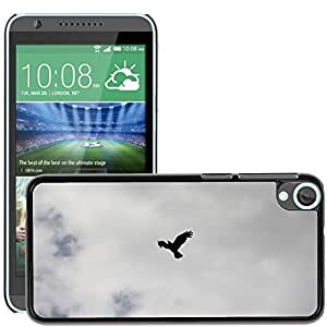 Super Stella Slim PC Hard Case Cover Skin Armor Shell Protection // M00146187 Crow Raven Bird Sky Silhouette // HTC Desire 820