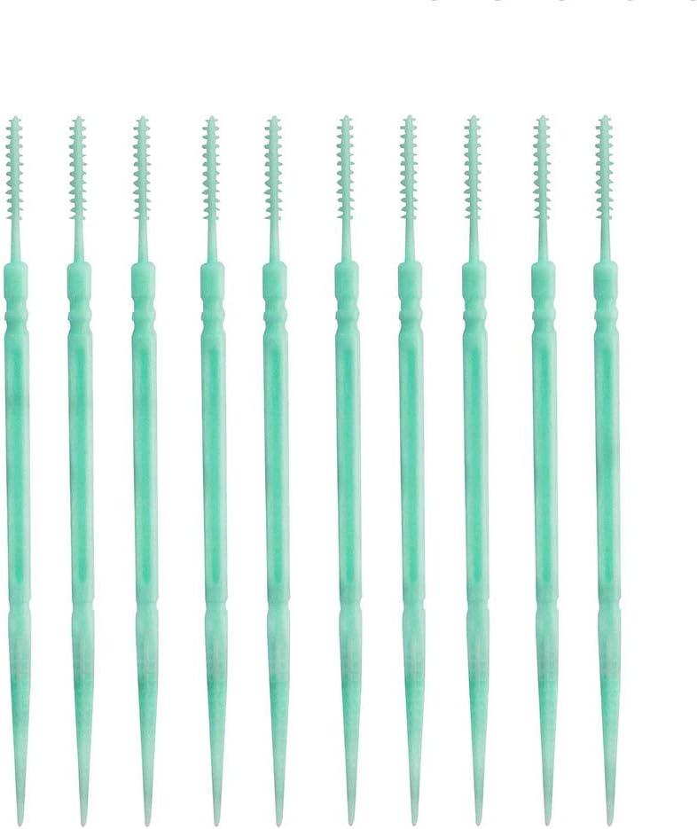 Lechnical 200 pezzi Spazzolino da denti Stuzzicadenti in plastica a doppia estremit/à Strumento per la pulizia dei denti Stick per i denti per la cura orale