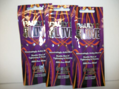 3 packets PAULY D DIRTY LOVE Active Bronzer 2xTightening & F