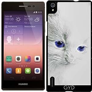 Funda para Huawei AscendP7 - Gatito Blanco by Gatterwe
