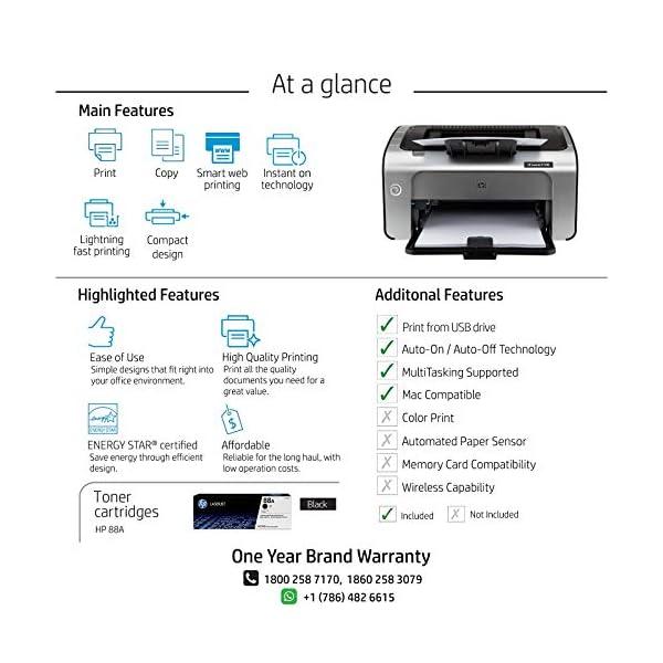 HP Laserjet P1108 Single Function Monochrome Laser Printer