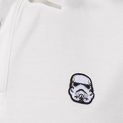 GOZOO Star Wars Polo Shirt Pique Herren Imperial Stormtrooper - Rebels! Blast 'Em Weiß
