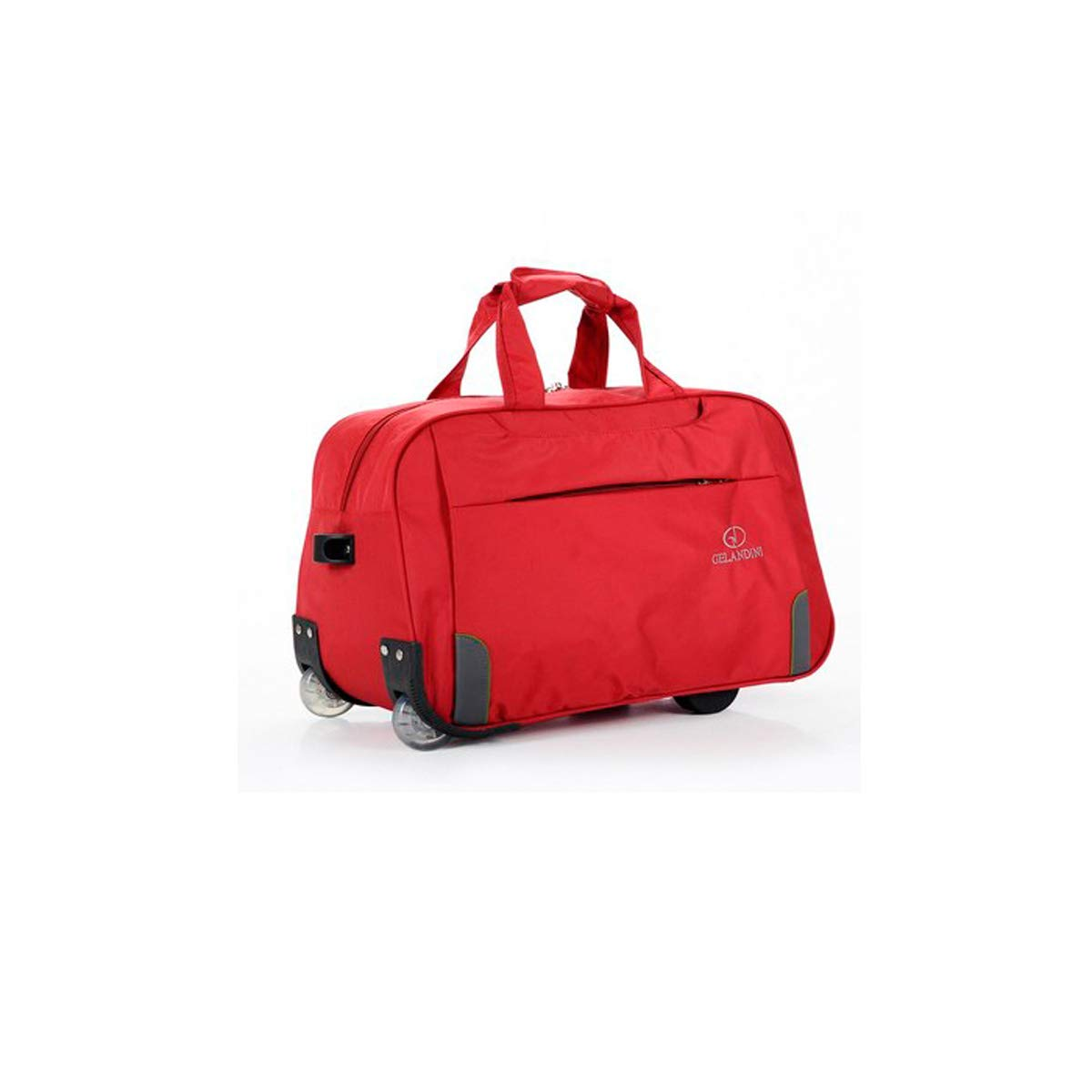 Simple Huijunwenti Trolley Case Red The Latest Style Travel Case Soft Bag Color : Red Travel Organizer Handbag 20 Inches
