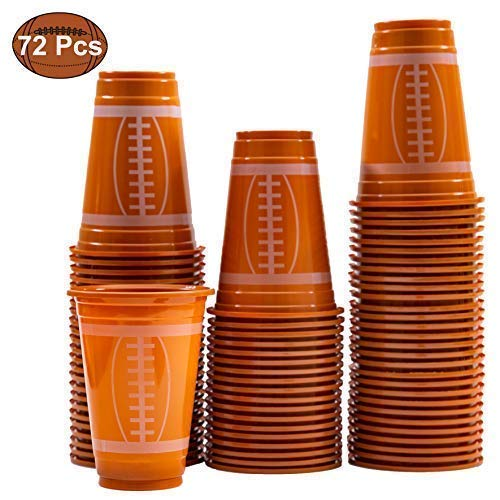 (JOYIN 72 Pack Touchdown Football Themed Cups, Game Day Plastic Cups, Football Party)