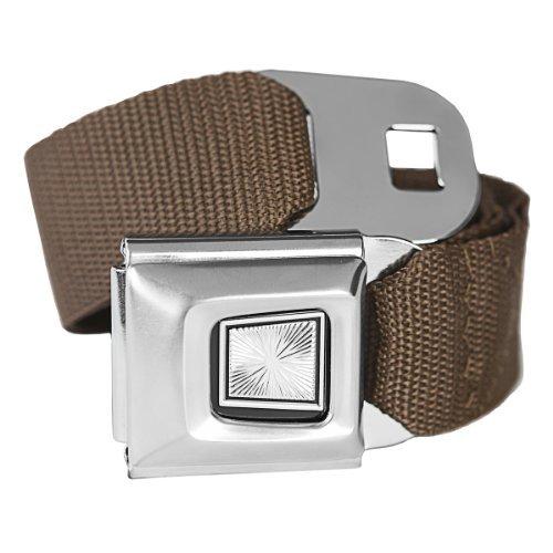 Brown Classic Seatbelt Buckle Fashion Belt - Buckle Down Belt Buckles