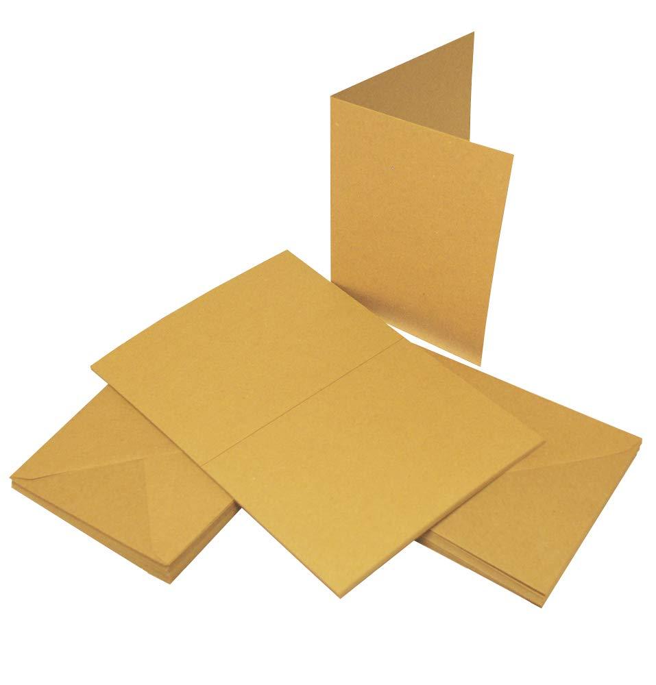 Craft UK 2042 A4 Kraft Card - Brown (Pack of 50 sheets) CUK2042