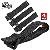 Maxpedition 3-Inch TacTie Attachment Strap Bag (Black) Package of 4