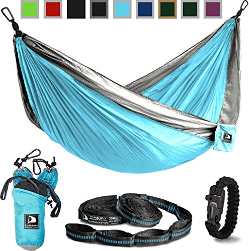 Flagship X Double Camping Hammock With Tree Straps And