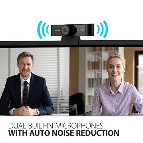Câmera USB ViewSonic VB-CAM-001 1080p ultra ampla com microfones integrados compatíveis com Windows e Mac